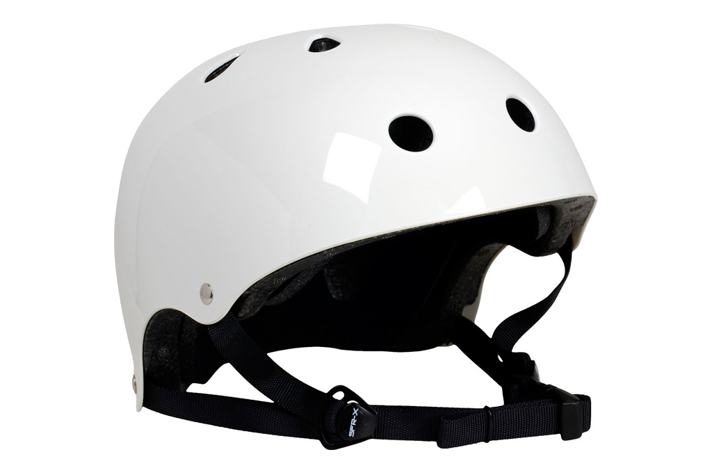Casco Skate SFR Essentials Blanco Metalizado