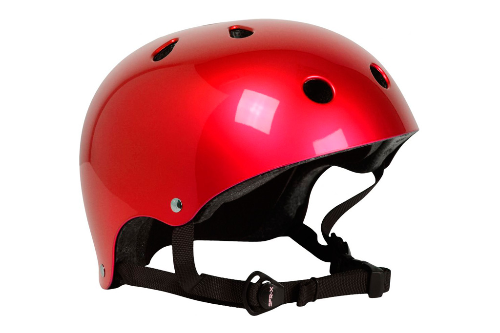 Casco Skate SFR Essentials color Rojo Metalizado